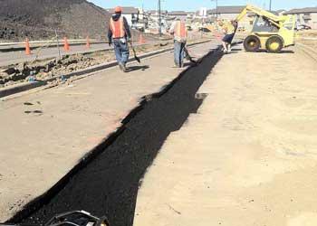 asphalt repair on highway edmonton