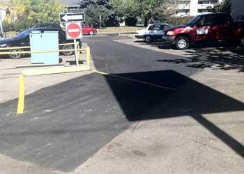 asphalt repair in mall in edmonton