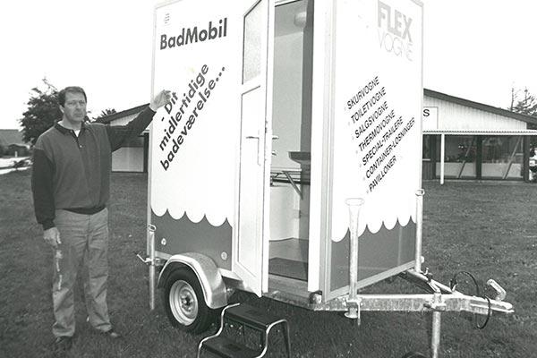 Finn Andersen med en badmobil