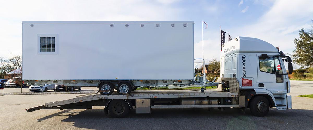 Skurvogn på vej til Sverige