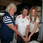 50th Anniversary at Grantown (cutting cake)