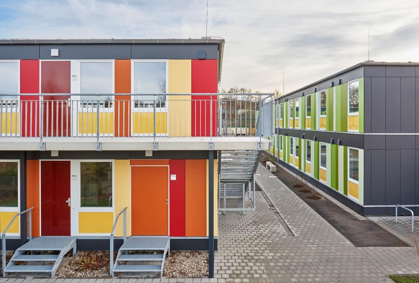 Die neue Geflüchteten-Unterkunft Am Nordhang in Hannover-Ahlem.
