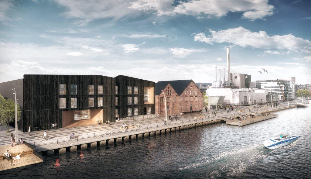 Ansicht des neuen Cibaria Standorts am Mittelhafen in unmittelbarer nähe zur Hafenkäserei.