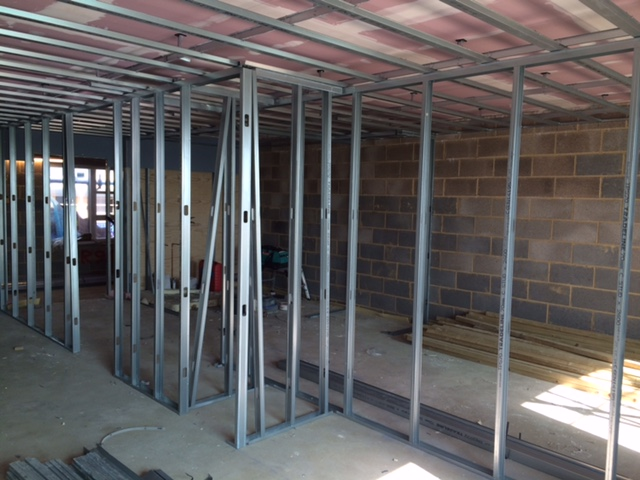 Metal Stud Partition Walls : Drylining metal stud partitioning andover hampshire