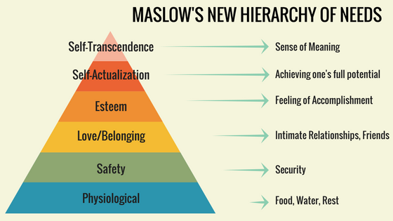 Maslow's New Hierarchy of Needs