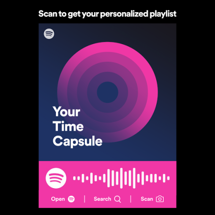 Your Time Capsule Playlist by Spotify scan code