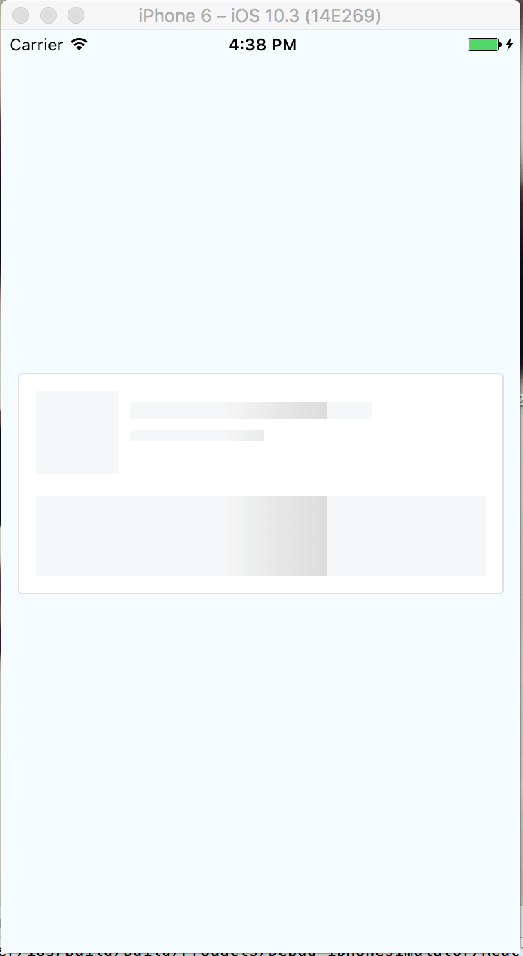 placeholder animation with header content