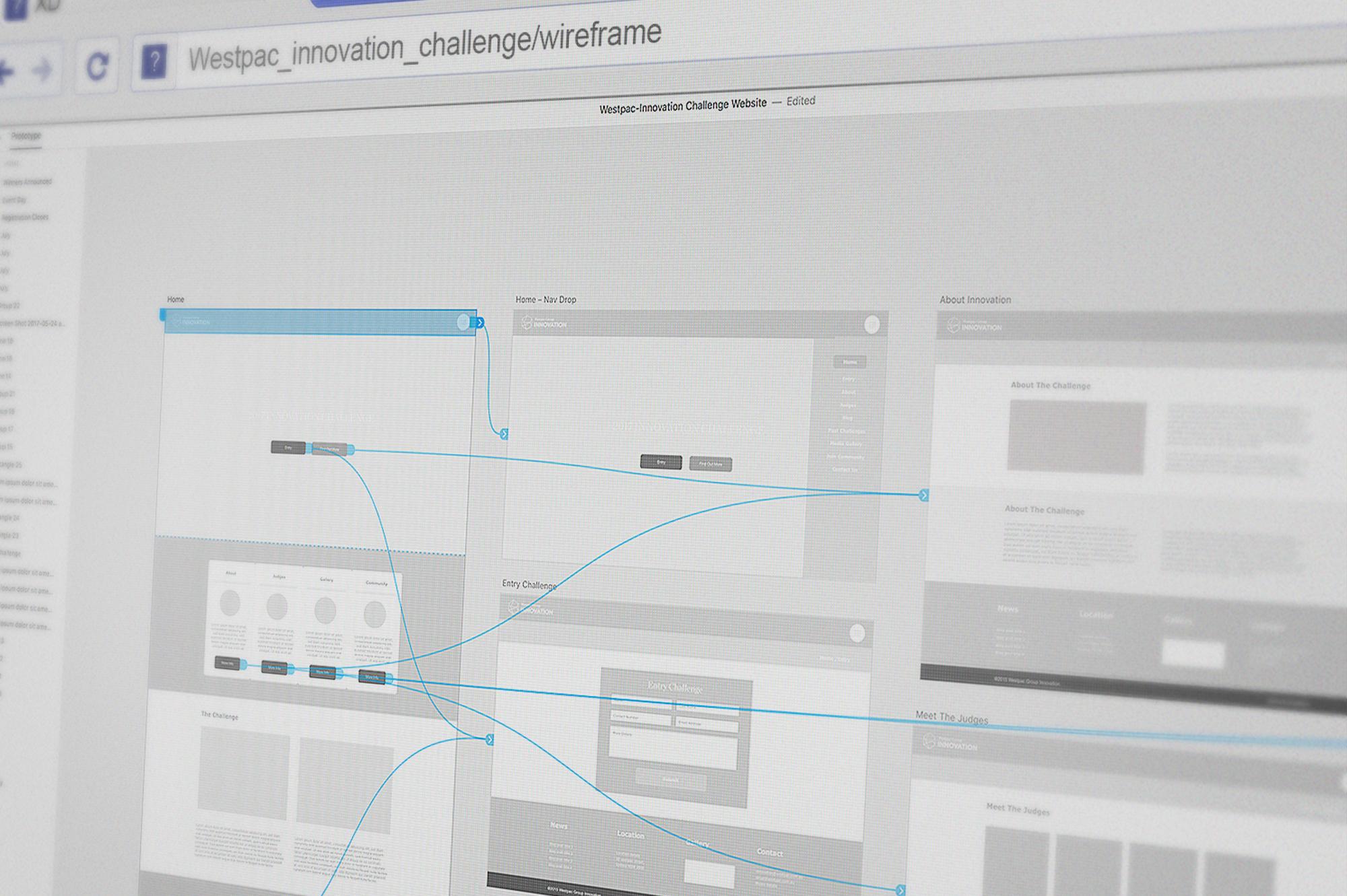 Adobe XD wireframe