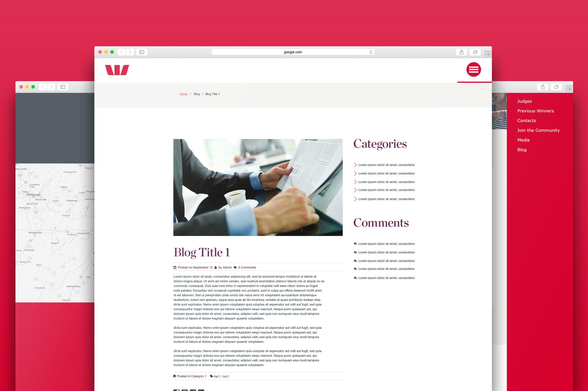 Westpac UI concept design