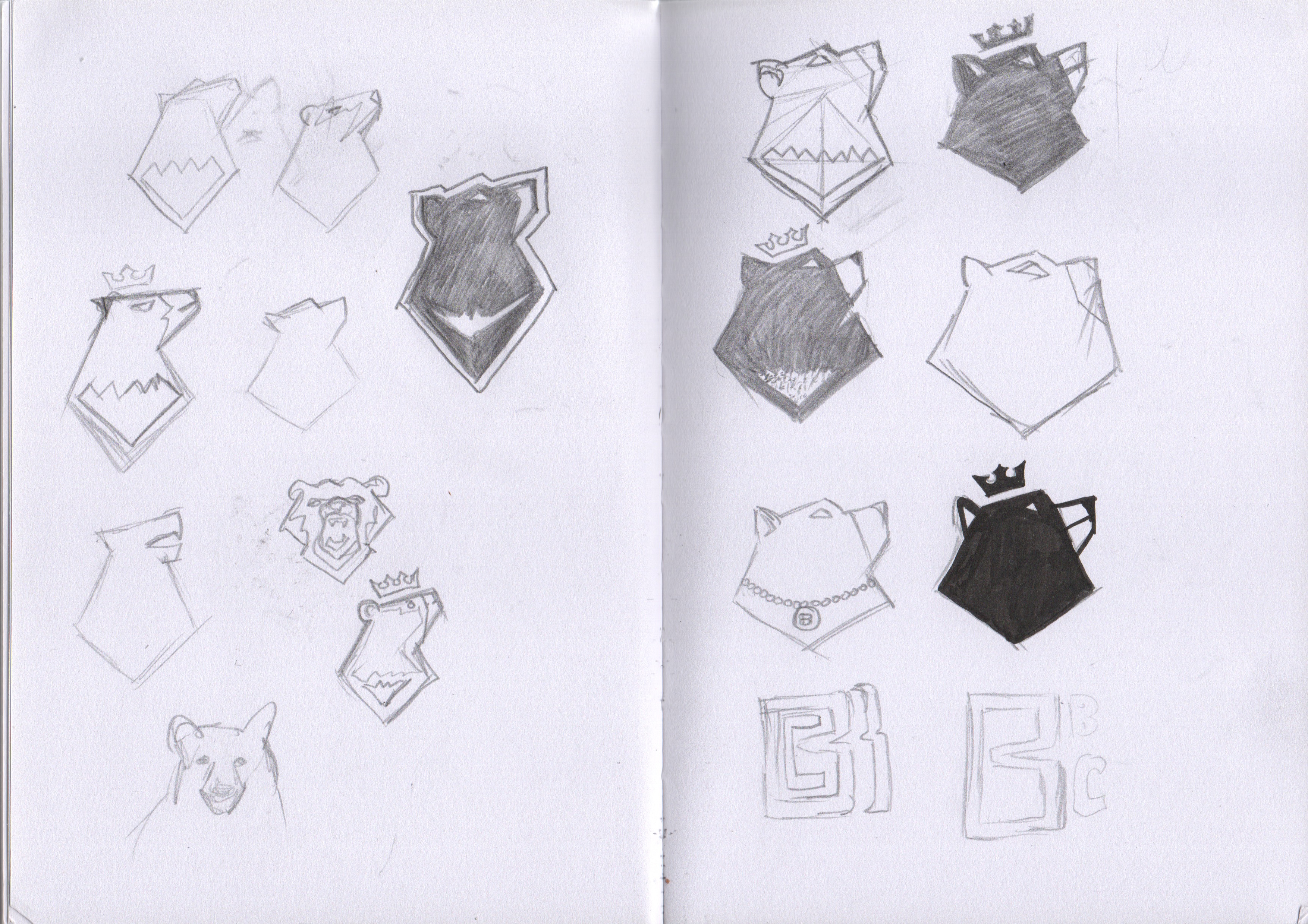 Initial Black Bear Concept Sketchs