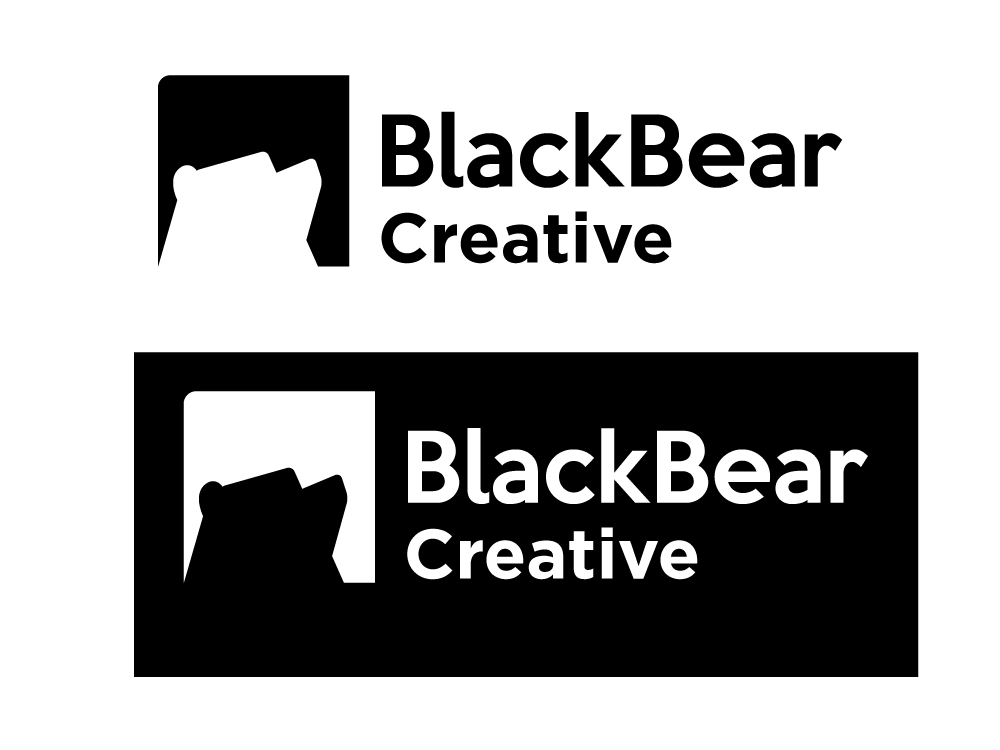 Black Bear Creative logo variations