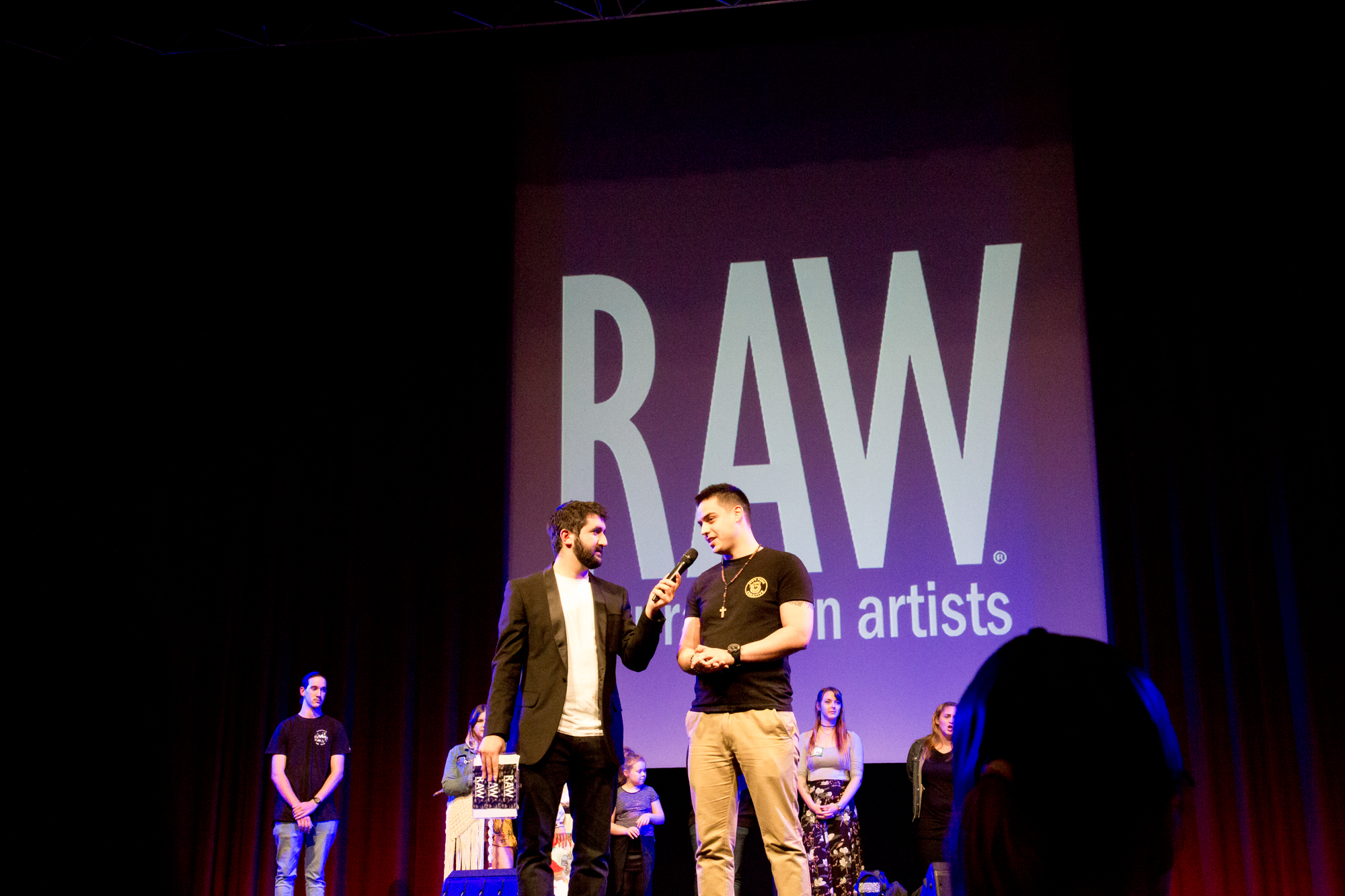 Justin Marchant on stage RAW 2017
