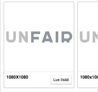 Facebookin karusellimainoksessa kuvakoot ovat 1080x1080px
