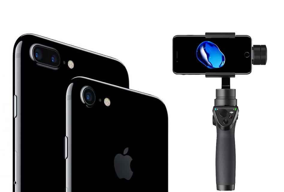 Dji для iphone 6s защита объектива черная фантом прозрачная, пластиковая