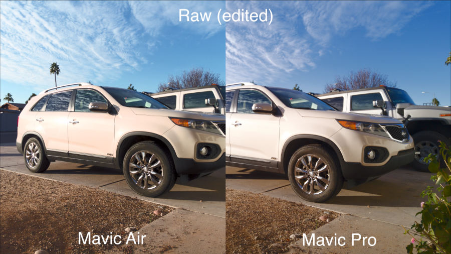 The Mavic Air Is Usually A Bit Green And Pro More Purple Sharpness Compression Look Identical To My Eyes