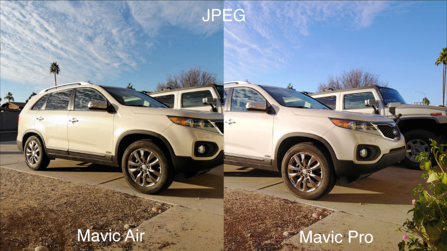 The JPEG Images On Both Drones Look Very Similar To Videos Shot In Standard Color Profile Mavic Air Is Usually A Bit Green And Pro