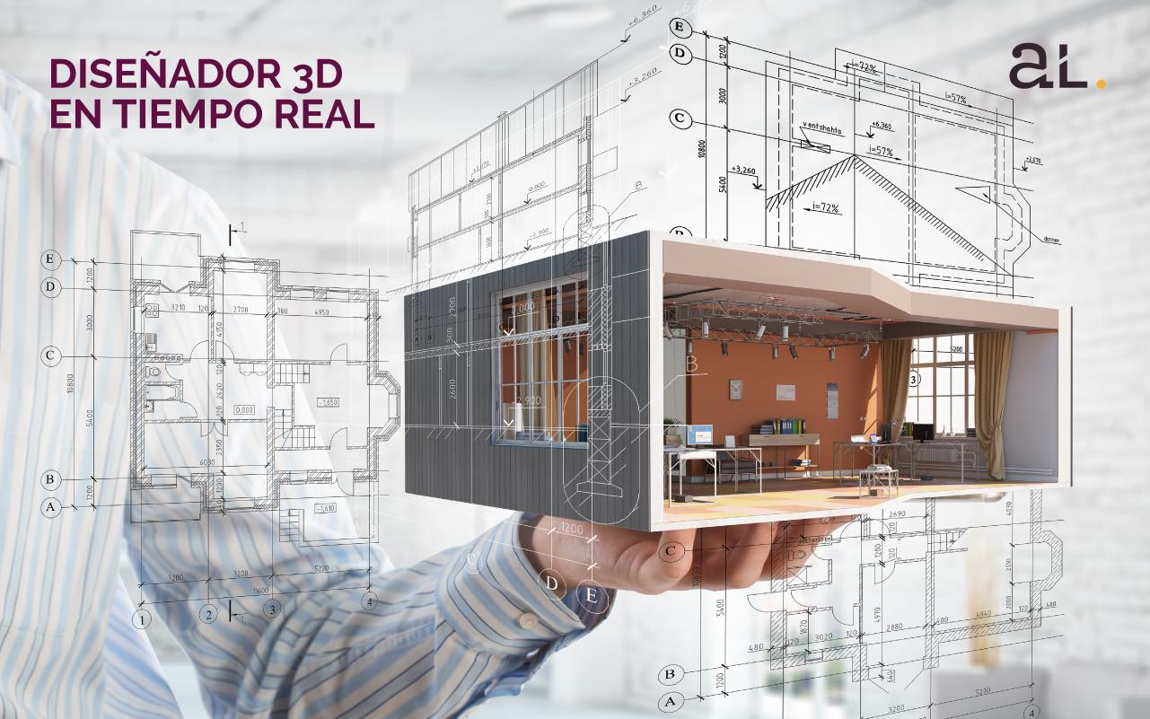 Diseñador 3D en tiempo real