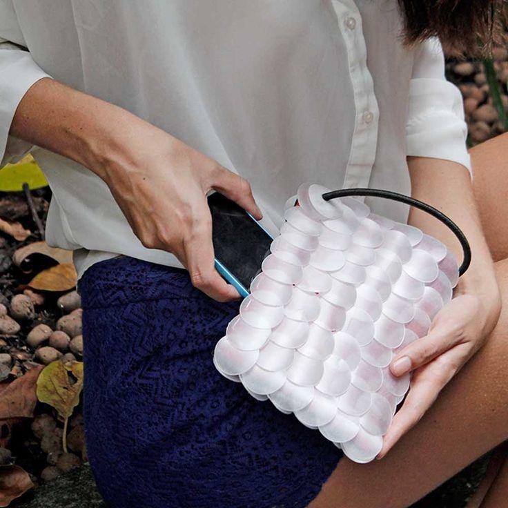 Bolsa feita de garrafas PET