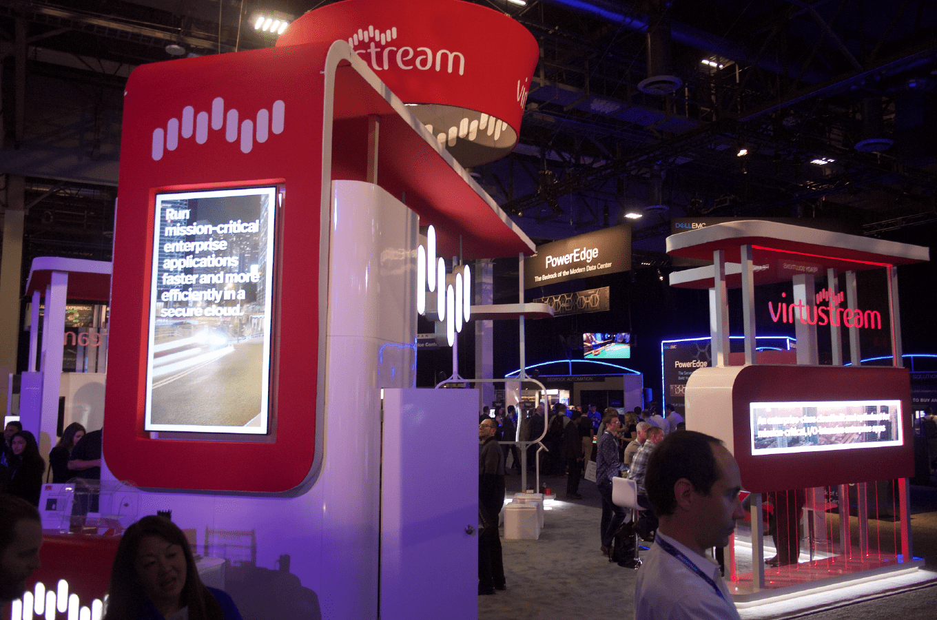 Virtustream Tradeshow Booth