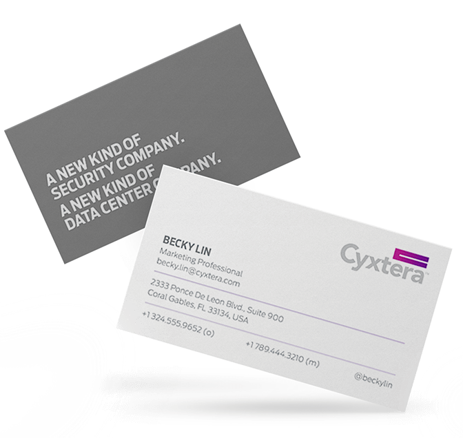 Cyxtera Branded Business Cards