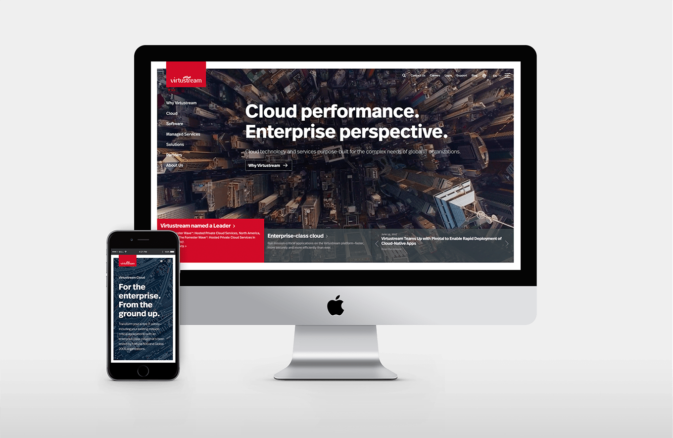 Virtustream Website Development