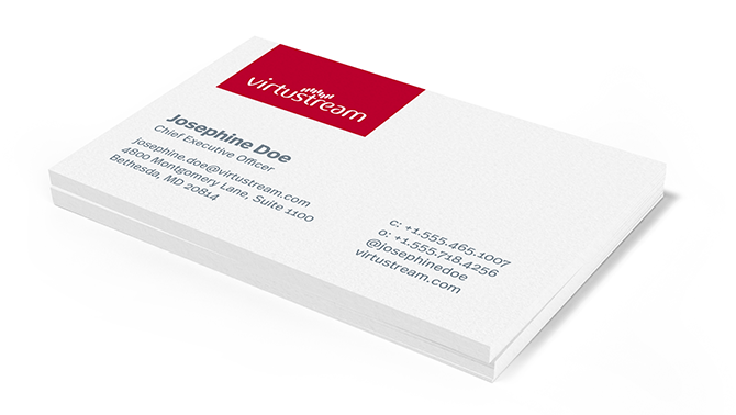 Virtustream Branded Business Cards