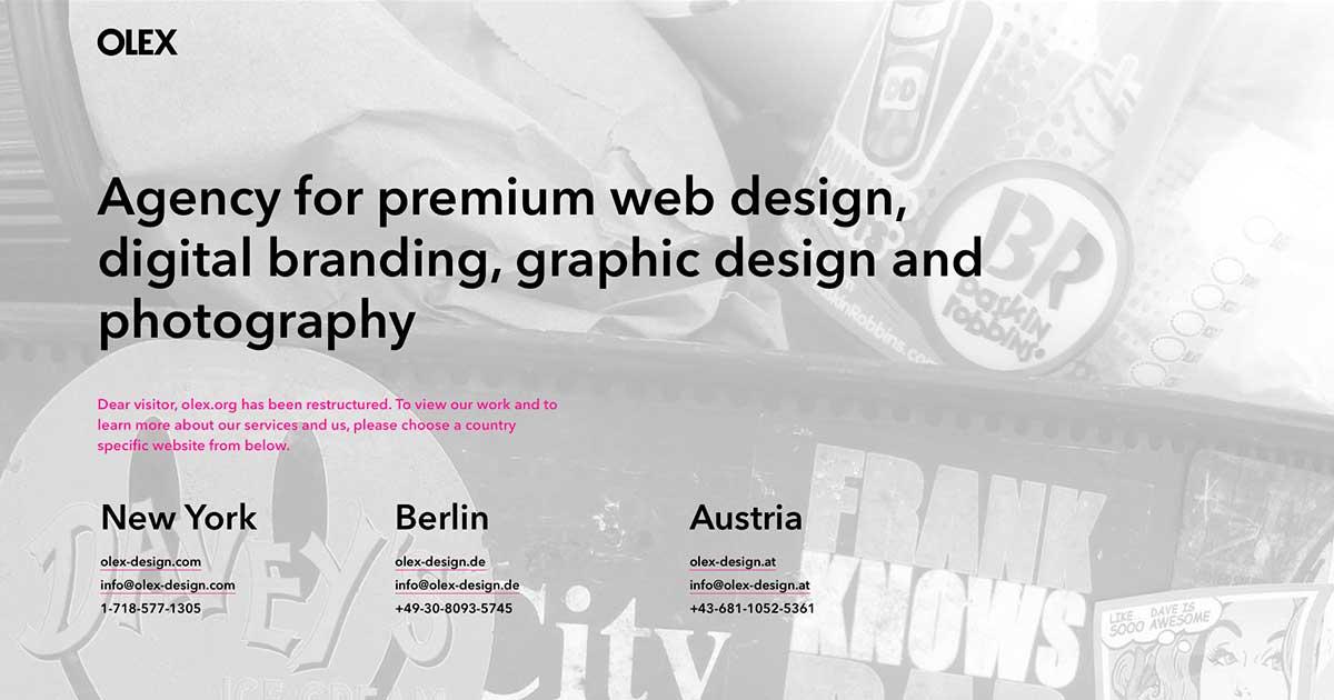 OLEX - Premium Digital Design & Branding - New York, Berlin