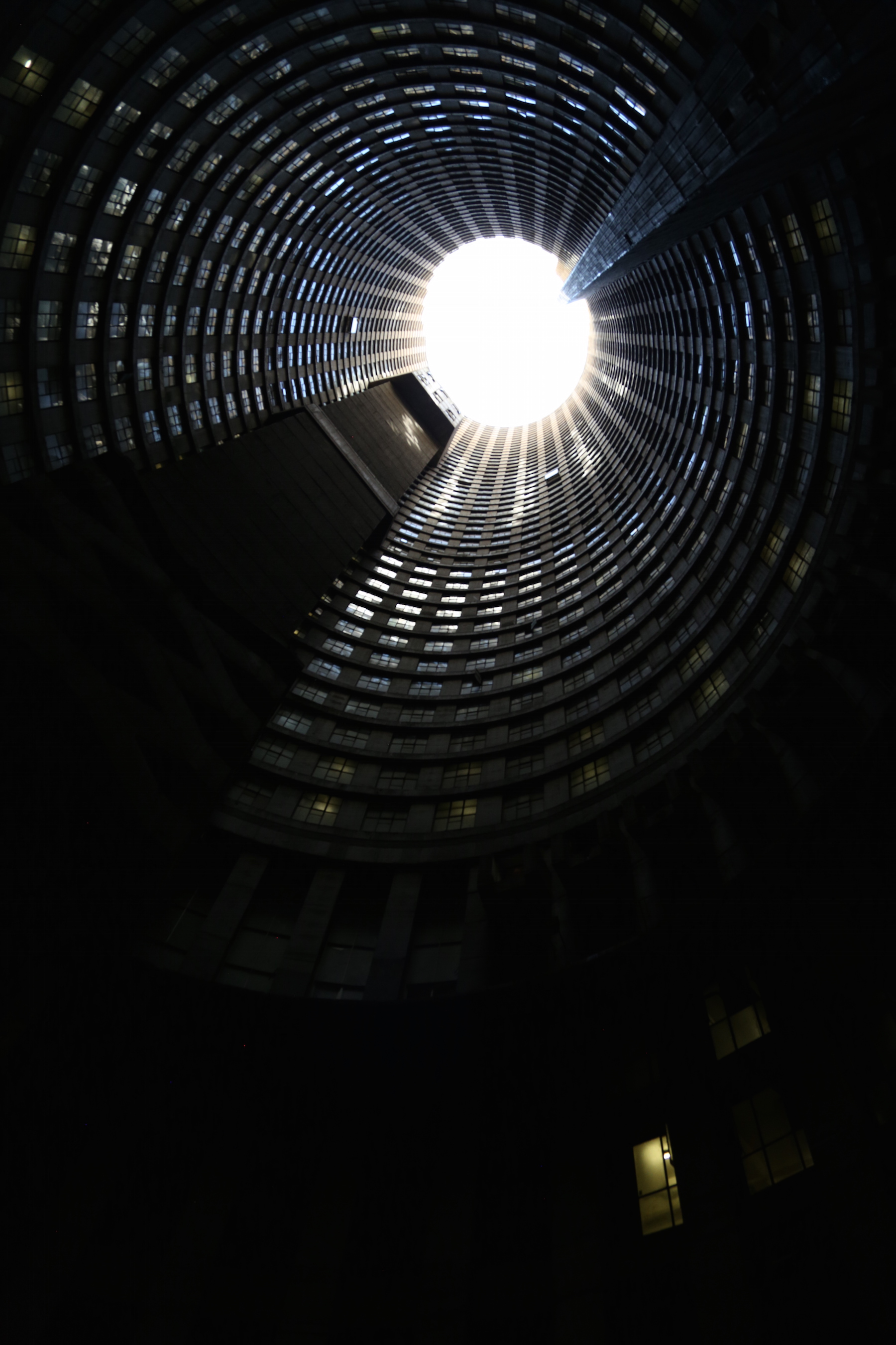 Inside Ponte Tower Johannesburg
