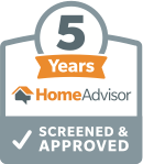 Screened & Approved by HomeAdvisor for 5 Years