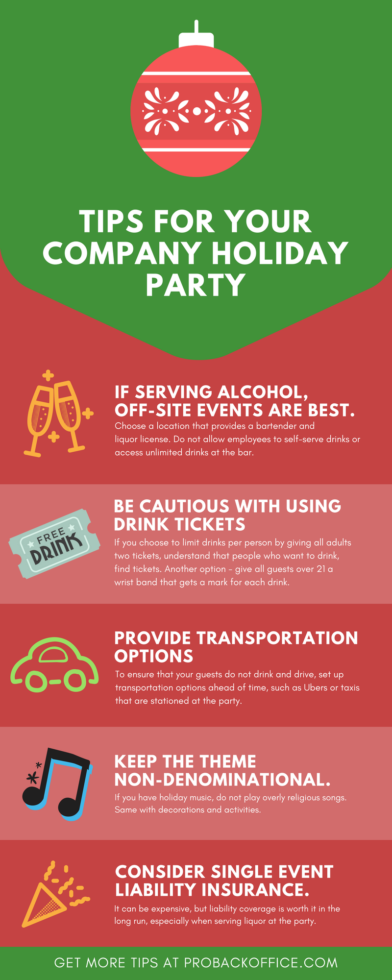 tips for hosting a company holiday party pro back office