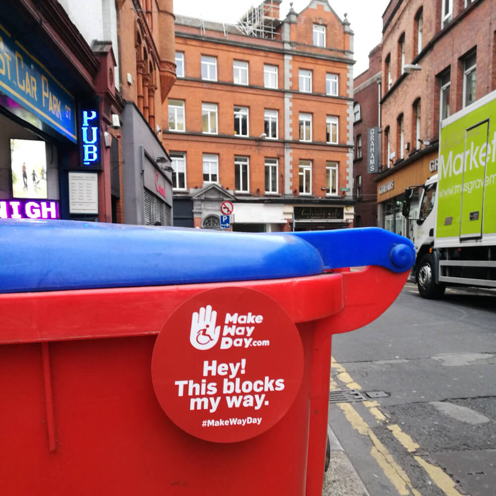 Image of a bin blocking the footpath