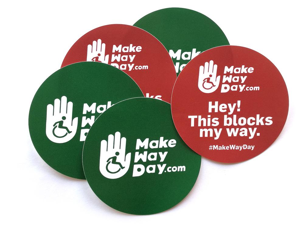 MakeWayDay stickers