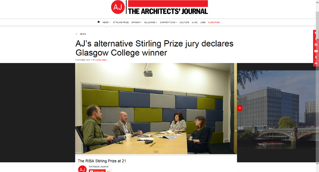 Riverside Wins Alternative Stirling Prize