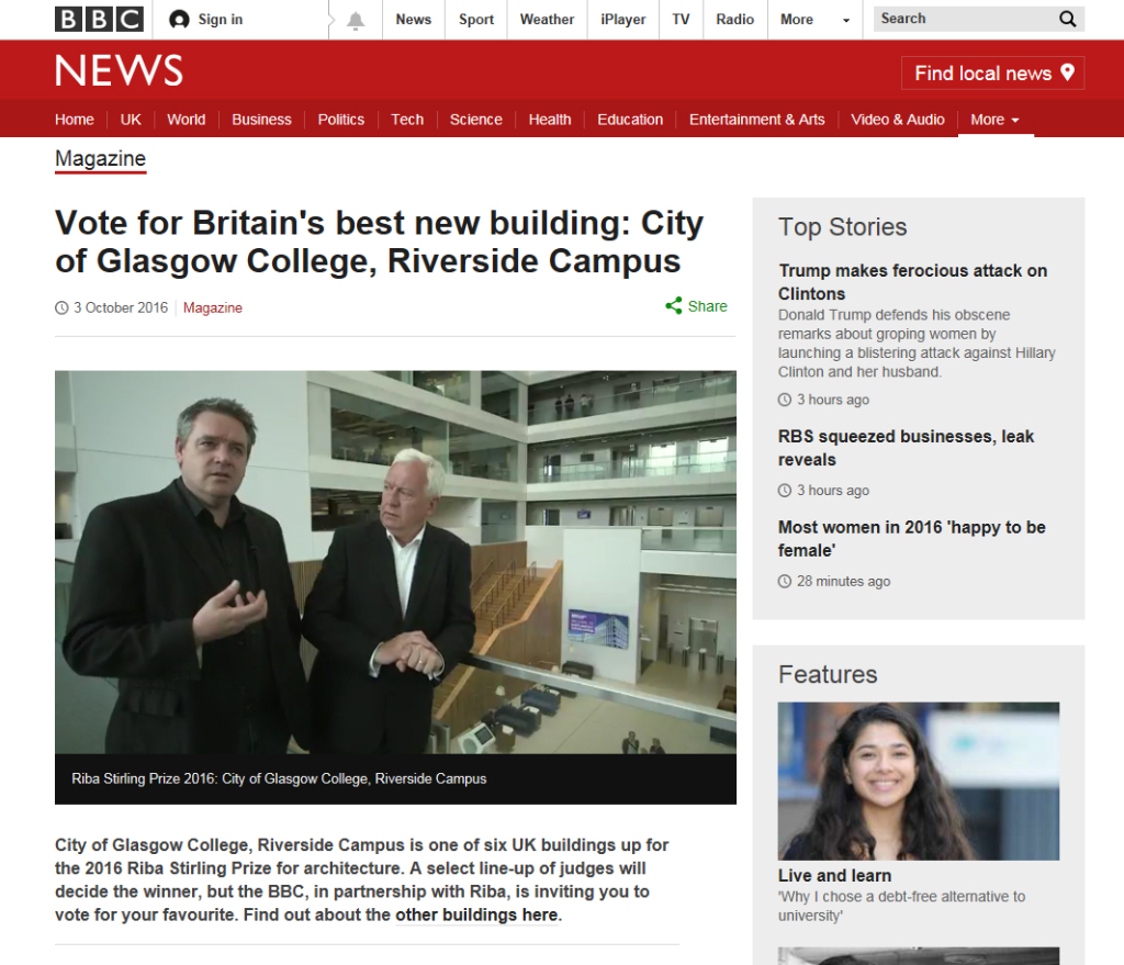 Reiach and Hall Architects on the BBC