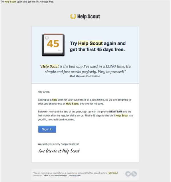 HelpScout late customer retention get users back