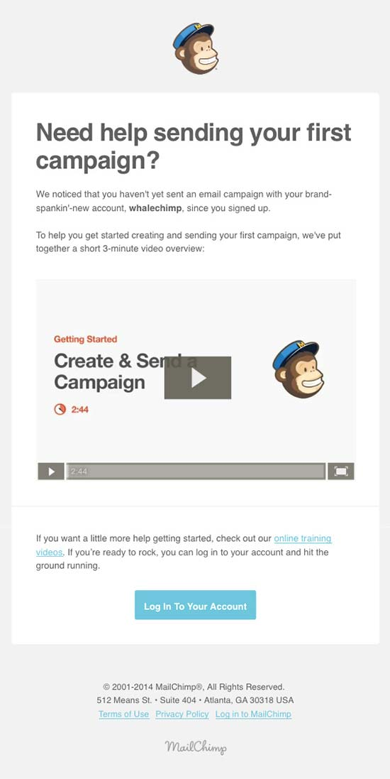 mailchimp reengagement email