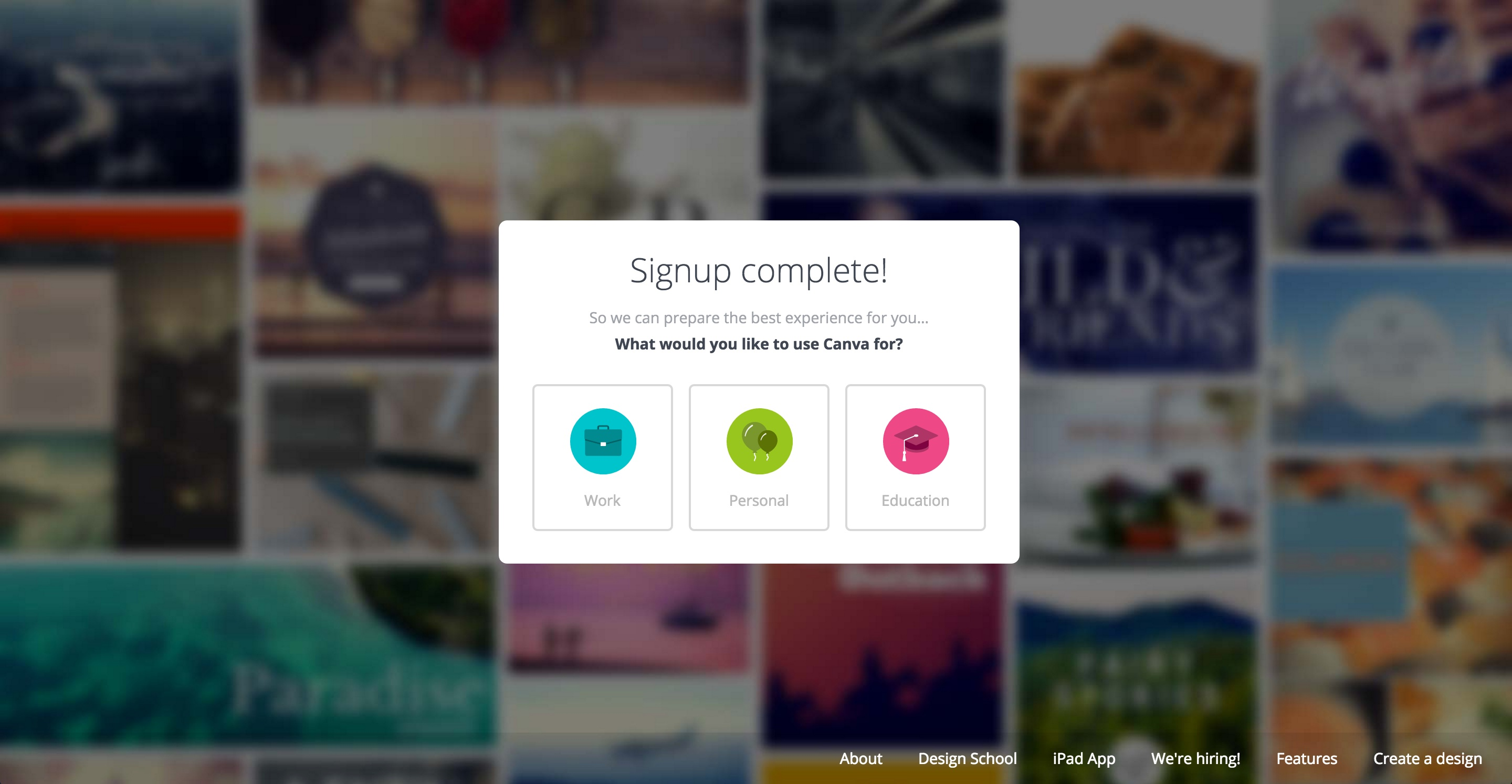 canva user onboarding step 2