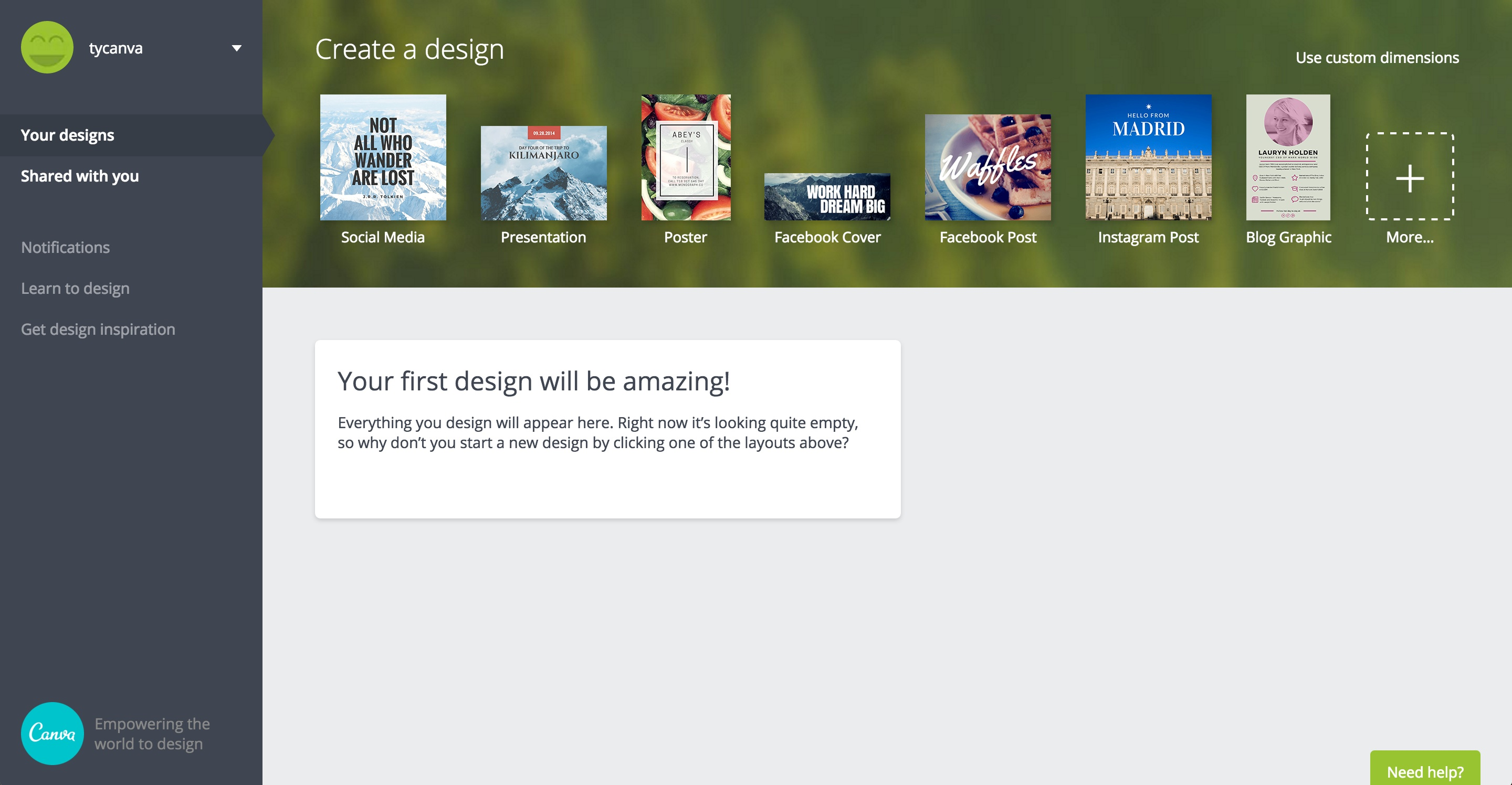 canva user onboarding step 16