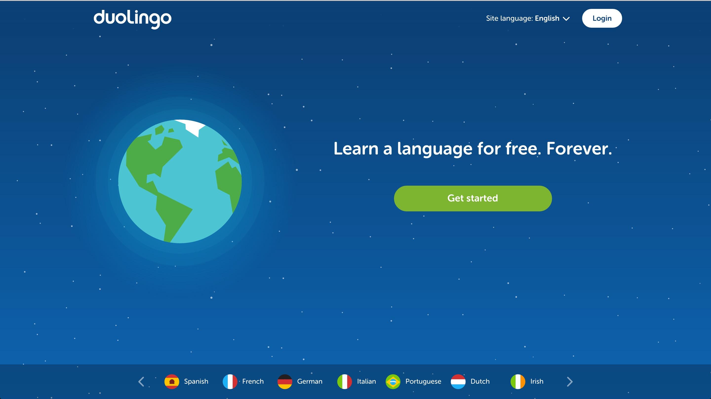 duolingo user onboarding step 1