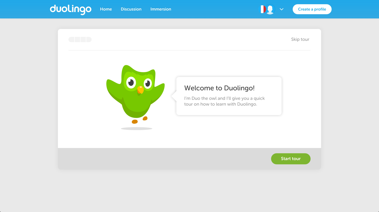 duolingo user onboarding step 3