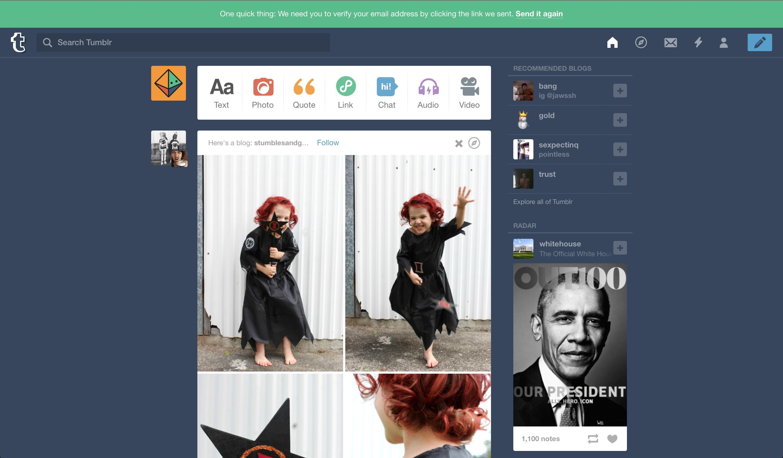 Tumblr user onboarding step 5