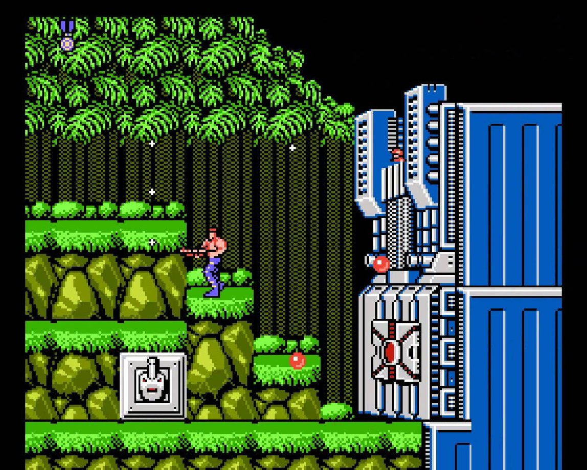 Contra video game design