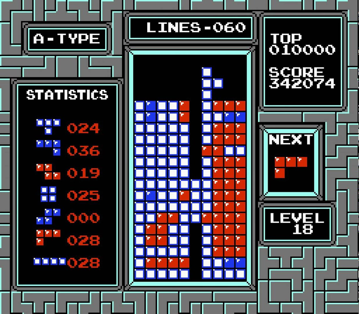 Tetris progress bars