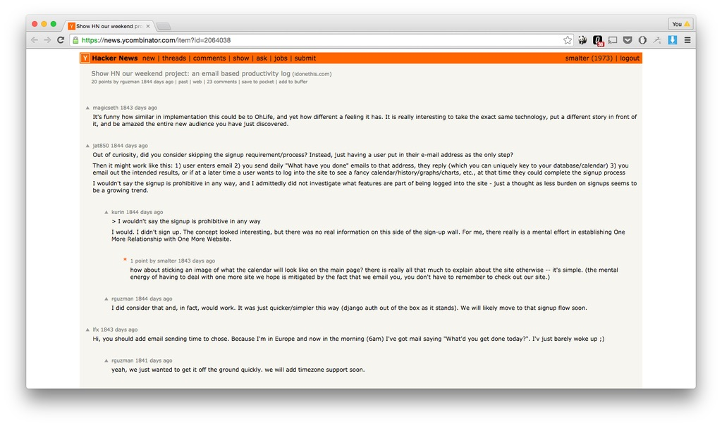 Hacker News product launch