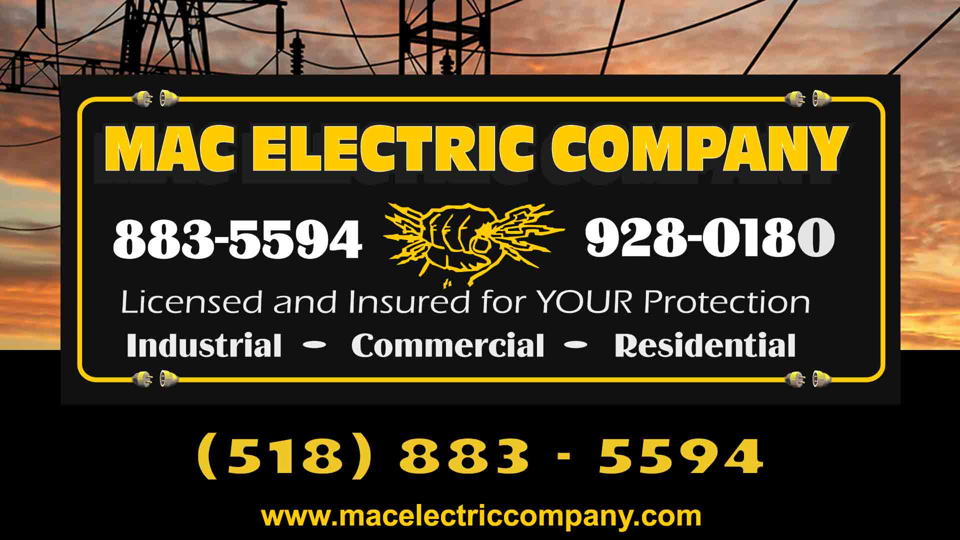 Mac Electric Company Residential Commercial Industrial Wiring Estimation Electricians 518 883 5594