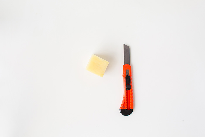 Carving a Potato to make a Soap Mold