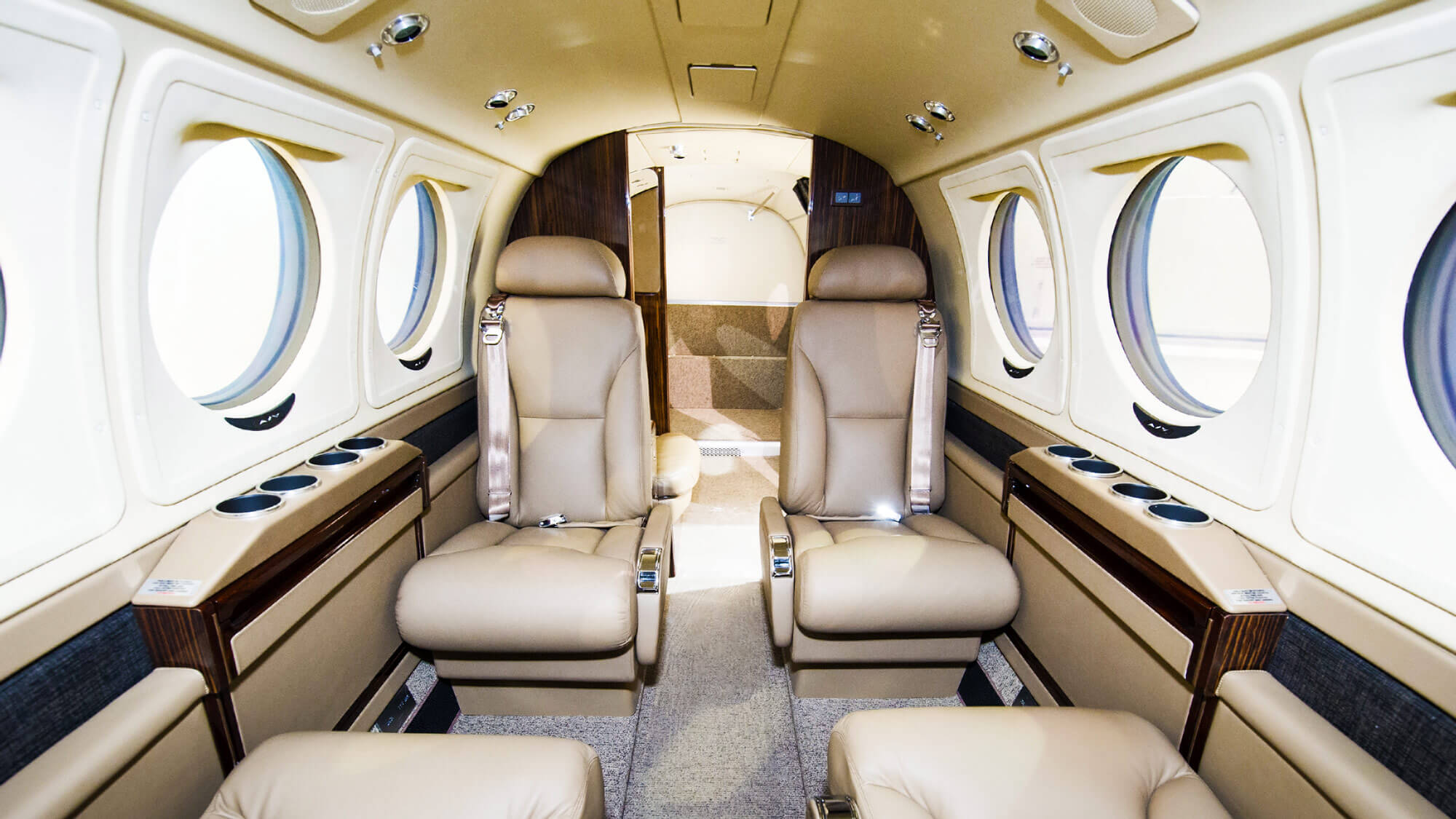 Interior of the Beechcraft King Air