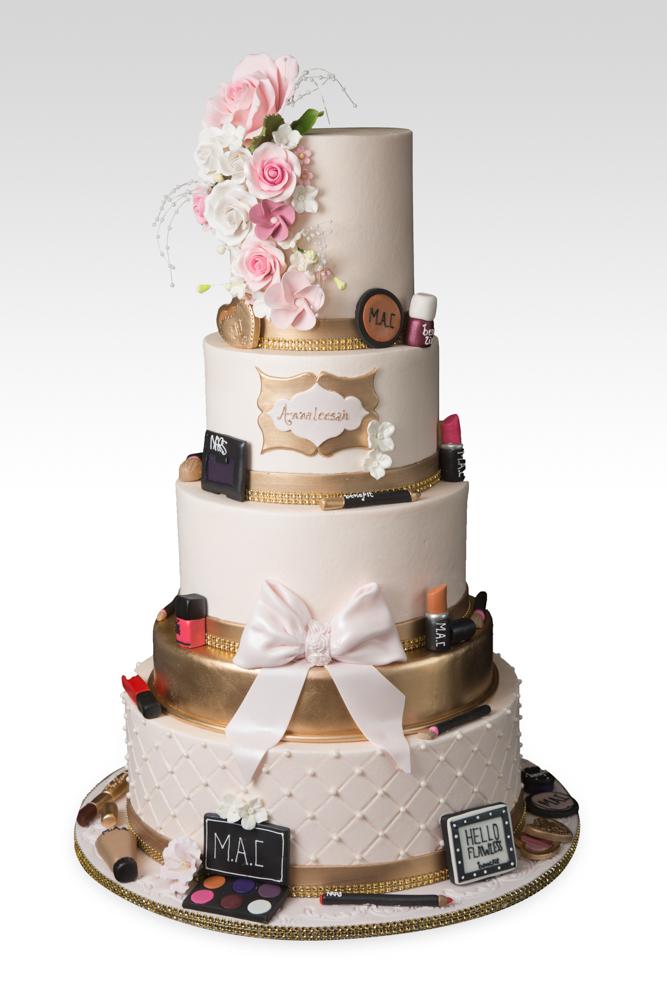 5 Tier Makeup Birthday Cake