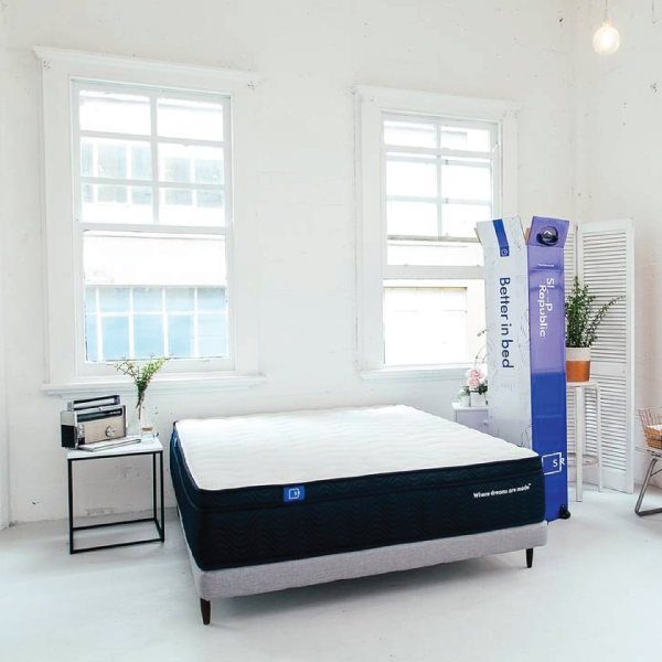 Sleep Republic mattress and box in bedroom