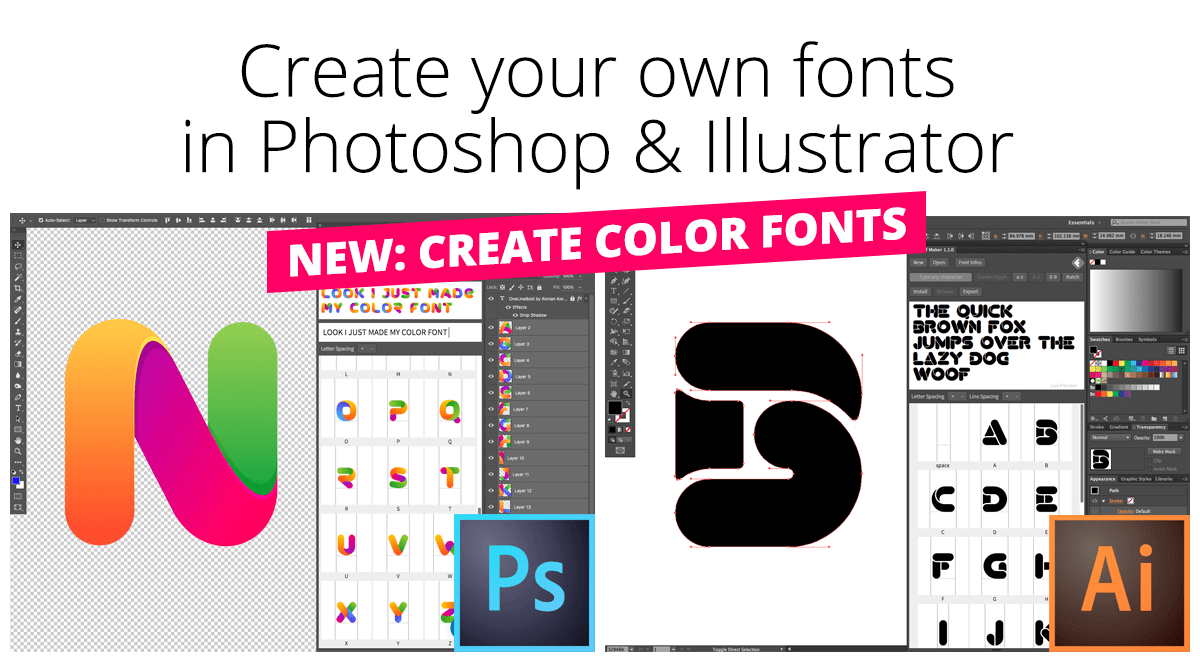Create fonts with Fontself!